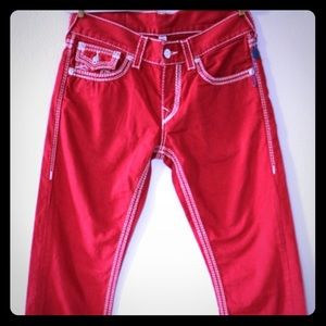 ⭐️⭐️💥TRUE RELIGION RED JEANS👖👖🌪☄️